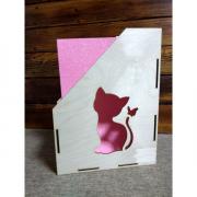 """Лоток для бумаг """"Котенок с бабочкой"""", 30х23х7 см"""