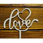 """Топпер """"Love"""" (ширина 15 см)"""