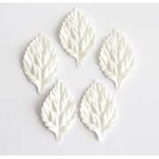 Листочки роз белые 4.5см (10шт.)
