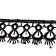 Гипюр 1748 15мм черный (1м)