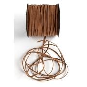 Шнур бархатный 2,5х1 мм (2 метра) коричневый