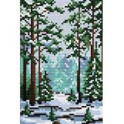 """Набор для вышивания """"Сказка зимнего леса"""" М-001 15х10см"""