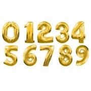 """Шар фольгированный """"Цифра"""" 40'' (102см) золото, без гелия"""
