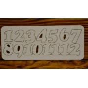 Цифры арабские №2 выс.3 см (картон)