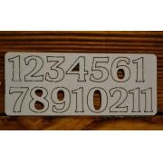 Цифры арабские №6 выс.2 см (картон)
