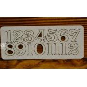 Цифры арабские №7 выс.2 см (картон)