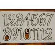 Цифры арабские №8 выс.2см (картон)