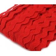 Лента вьюнчик (зигзаг) 5 мм красный 066 (4 метра)