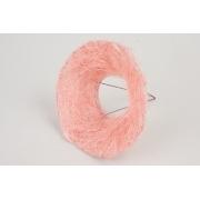 Каркас для букета гладкий (сизаль), светло-розовый, d=15см