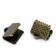 Концевик (зажим) 6х8 мм бронза (4 шт.)