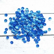 Пайетки ZL 6 мм 10 г Голубой №17