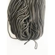 Шнур полиэфирный 3.5 - 4 мм крупное плетение, темно-серый (100 м)