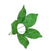 Каркас для букета (сизаль), зеленый цветок с острыми лепестками 15см