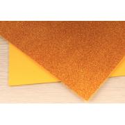Фоамиран глиттерный самоклеющ. 20х30см оранжевый