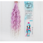 Волосы - тресс для кукол «Волны» длина волос: 25 см, ширина: 100 см, №LSA004