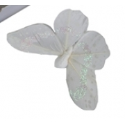 Бабочки на прищепке 8см белые (1шт.)