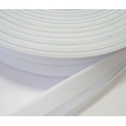 Косая бейка х/б GK-15C 14-15мм №001 белый (2 метра)