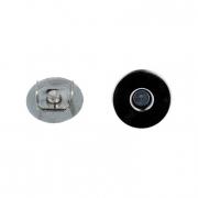 Кнопки магнитные MKM-02 18 мм (1шт.) гладкие никель