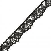 Кружево-стрейч эластичное TBY-1336 25мм черное (1м)