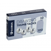 Кнопки канцелярские, 100 шт., 10 мм