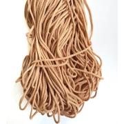 Шнур полиэфирный 3.5 - 4 мм крупное плетение, св.бежевый (100 м)
