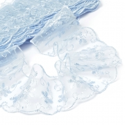 Кружево капрон 65мм TBY.30011 голубой (1м)