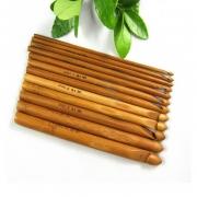 Крючок для вязания бамбук 10.0