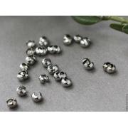 Бусины обжимные на кримпы (10шт.) серебро