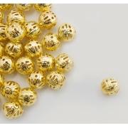 Бусины ажурные 6 мм (10 шт.) под золото