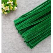 Проволока  синельная 30 см темно-зеленый, 50 шт