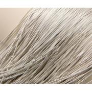 Канитель мягкая 1мм (5грамм) теплое серебро