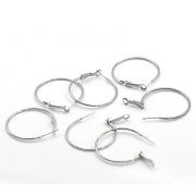 Швензы-кольца посеребреные 20мм (пара)