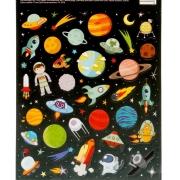 """Наклейки """"Космическое путешествие"""" 11х16см"""