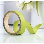 """Лента для подарков с тиснением """"Аспидистр"""" 2см (2метра) оливковый"""