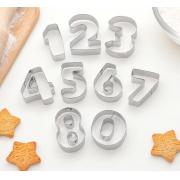 Набор форм для вырезания печенья «Цифры», 9 шт