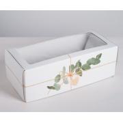 Коробка складная с окном  «Эко», 16х35×12 см