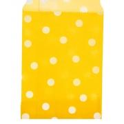 "Пакет с плоским дном ""Горох желтый"" 10х15см (2шт.)"