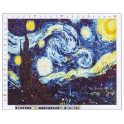 Канва для вышивания с рисунком «Ван Гог. Звездная ночь», 47х39 см