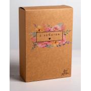 Коробка складная крафтовая «С заботой», 16х23×7,5 см