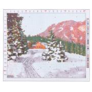 Канва для вышивания с рисунком «Бессонов. Зимний пейзаж», 47х39 см