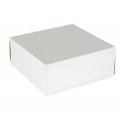 Коробка для торта белая 25.5х25.5х10.5 см (1шт.)