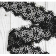 Кружево реснички 105мм черное (1метр)
