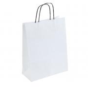 """Пакет крафт """"Радуга"""" белый с черными ручками 25х11х32 см"""