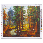 Канва для вышивания с рисунком «Карл Розен. Река в лесу», 47х39 см