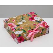 Коробка подарочная «Цветущего счастья», 20х18х5 см