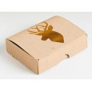 Коробка складная рифлёная «Подарок», 15х21х5 см