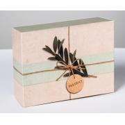 Коробка-пенал складная «Эко стиль», 20х15×8 см