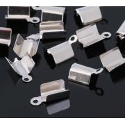 Зажим для узла/ленты (20шт.) под серебро