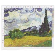 Канва для вышивания с рисунком «Ван Гог. Рожь», 47х39 см