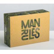 Коробка складная «Man rules», 16х23х7,5 см
